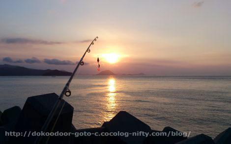 釣りバカなアングルで見る日の出