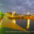 呉市アレイからすこじま_通り道から見た風景